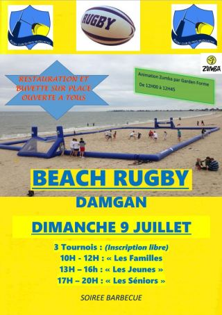 Affiche Beach Rugby